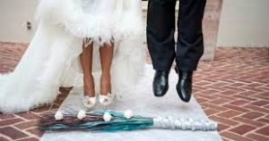 unique wedding ideas leicestershire - jumping the broom